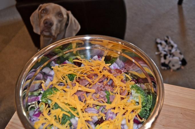 Reduced-Guild Broccoli Salad