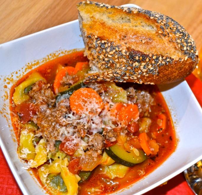 Italian Tortellini and Sausage Soup