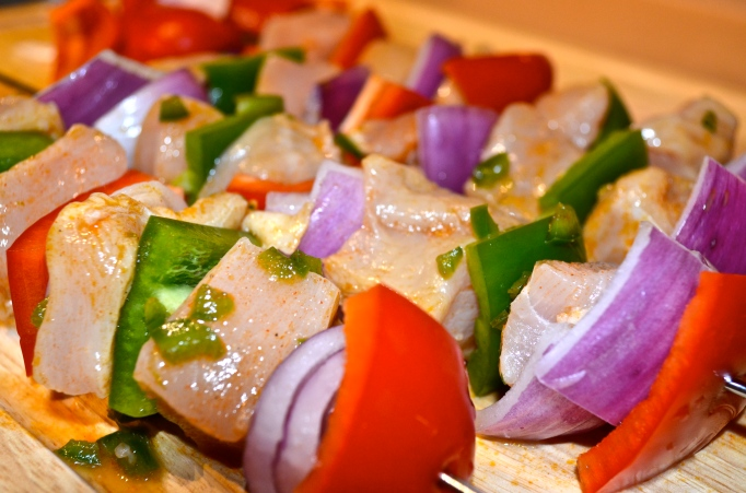 Tequila Lime Chicken Kabobs