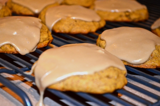 Pumpkin Spice Cookies with Brown Sugar Frosting