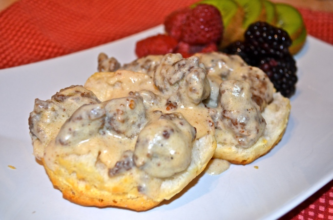 No Fuss Biscuits N' Gravy