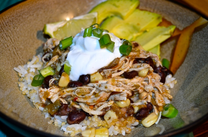 Salsa Verde Crock Pot Shredded Chicken