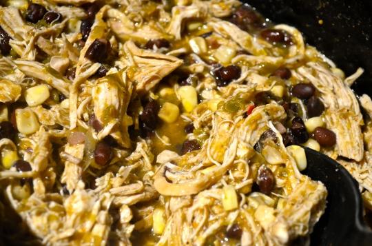 Salsa Verde Crock Pot Shredded Chicken