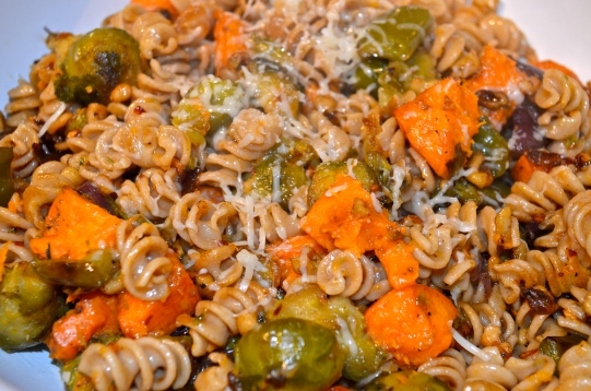 Roasted Autumn Vegetables and Brown Butter Truffled Pasta