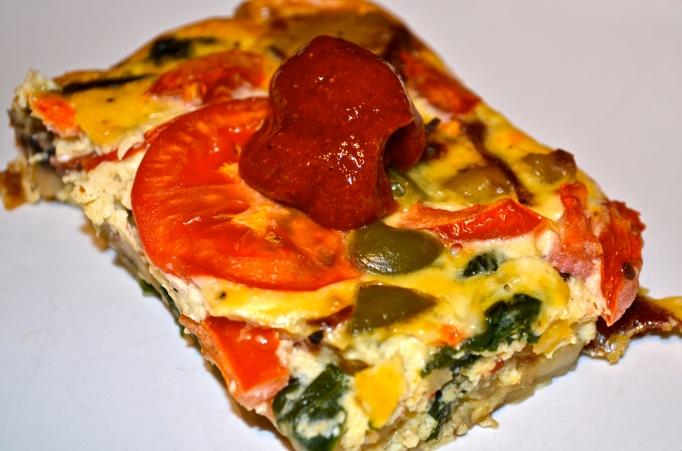 Mediterranean Tortilla Española: Crustless Quiche