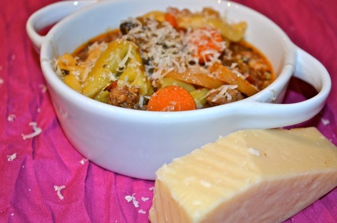 Sausage and Mushroom Tortellini Soup