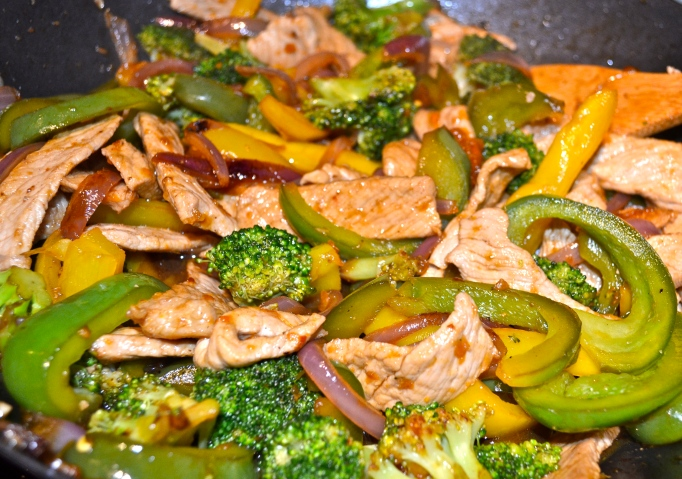 Apricot-glazed Pork Stir Fry