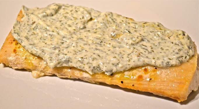 Baked Mahi-Mahi with Dill Cream Sauce
