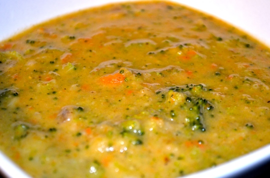 Reduced-guilt Broccoli Cheddar Soup