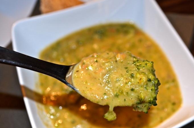 Reduced-Guilt Broccoli Cheddar Soup