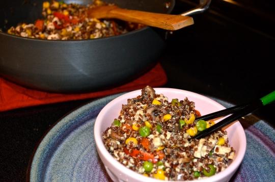 30-Minute Vegan Fried Quinoa