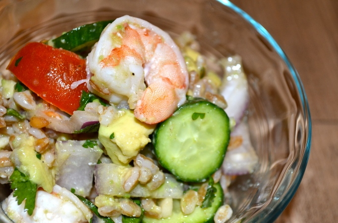 Shrimp & Farro Salad