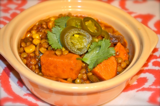 Lentil and Sweet Potato Chili